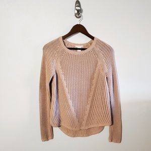 H&M Blush Pink Knit Sweater